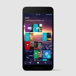 Windows 10 Google: Mobile Start Menu by wwsalmon