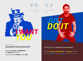 Student Government Promo Posters by wwsalmon
