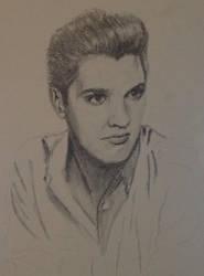 WIP Elvis Presley by KatersArt