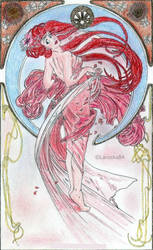 Ariel as Mucha's Dance by Larocka84