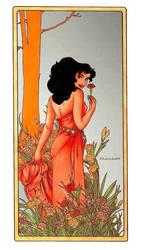 Esmeralda - Mucha's Flowers: Carnation by Larocka84