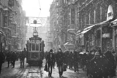 Snow Istiklal by MuratCicek