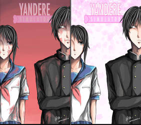 Yandere-chan and Yandere-kun by sommerannie