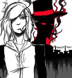 The Hat man  by RAWMEAT9