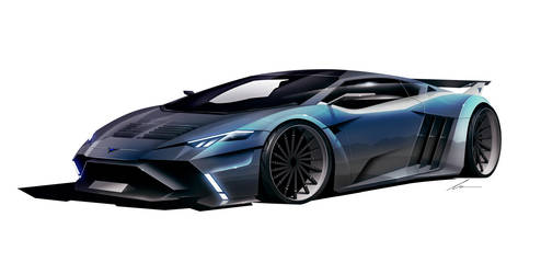 Vector Motors W12 supercar concept by pietrekm