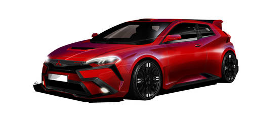 Mitsubishi EVO concept by pietrekm