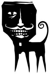 Monster with large human head by xochicalco