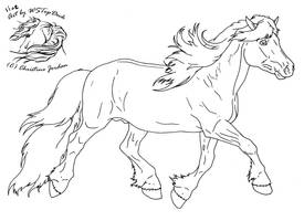 Haflinger Lineart for dA use by WSTopDeck
