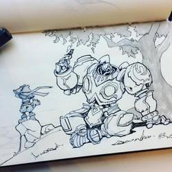 BattleChasers. Inktober '17. Fan art by funzee
