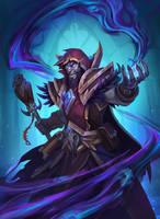 Death Lord Medivh - Hearthstone hero Fan Art by funzee