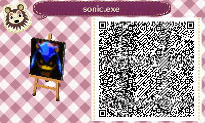 sonic.exe ACNL QR Code by SpykeXD