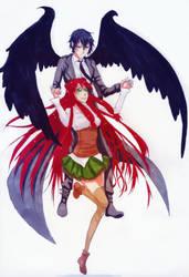 Thanatos and Mizuki by Ichi-14