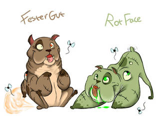 Festergut and Rotface by ShadeySix