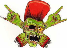Psychobilly invasion zombie. by Zombean1138