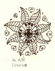 Serenity Flower #38 - Vibrant Aztec Star by Dance4life628