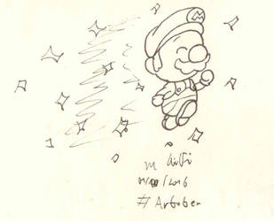 Artober 2017 #1 - Swift (Star Mario) by Dance4life628