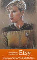 Lt. Natasha Yar - Denise Crosby Portrait by PortraitsByAlan