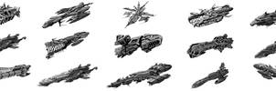 Blood and Chrome Unused Fleet by zeustoves
