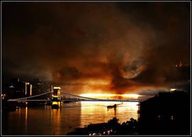 Burning river by Csipesz