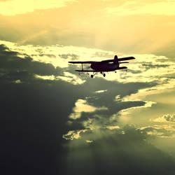 Sunset flying 2 by Csipesz