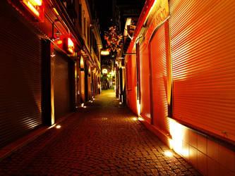 Red street by Csipesz