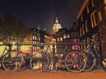 Night in Amsterdam 5 by Csipesz