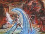 Catastrophic Battle by IndigoFlamingo