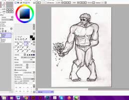 Love is Crazy Progress - Hulk by IndigoFlamingo