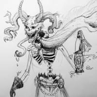 Inktober - The Poe Collector by IndigoFlamingo