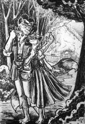 Day 19: Mr. and Mrs. Fox by IndigoFlamingo