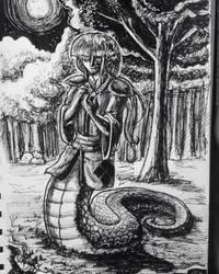 Day 21: The White Snake by IndigoFlamingo