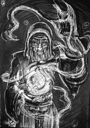 Day 26: Sorcerer by IndigoFlamingo
