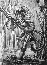 Day 31: The Huntswoman by IndigoFlamingo