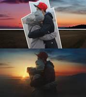 Cold sunset by maxasabin