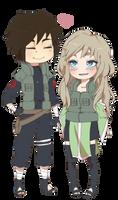 Saito and Anri|PC by shisaireru