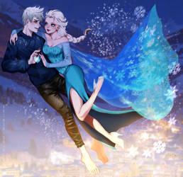 Fanart|Jack Frost x Elsa by shisaireru