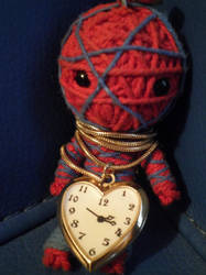 Spider boy and Mr. Time by SkullkaNika