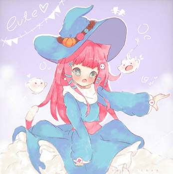 October special - blue witch by Suna--Chan