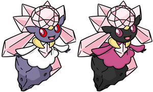 Shiny Diancie Dream World by KrocF4