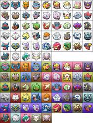 Pokemon Shuffle Mega Icons by KrocF4