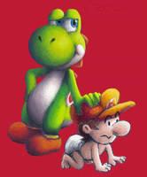 Yoshi and Baby Mario by Komare3232