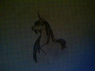 Unicorn drawing by Unicorns-Are-Beast