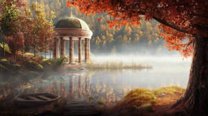 Autumn park illustration by Lac-Tic
