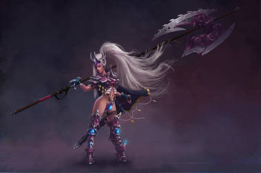 Lady Knight concept by Lac-Tic