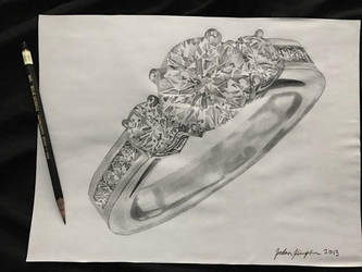 Realistic Drawing Of An Engagement Ring By Kimptongraphics On Deviantart
