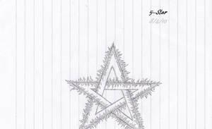 Flaming 5-point star by Kiba-Aido
