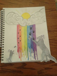 Love Over the Rainbow Bridge by Kiba-Aido