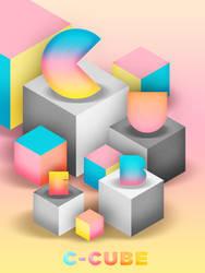 ALPHABET SERIES : C - Cube by PEPNIE