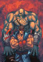 Sagat and Ryu by SephirothArt