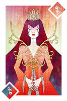 Playing Cards : Queen of Diamonds by sophiaazhou